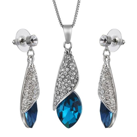 swarovski elements necklace swarovski elements 18k cz drop earrings pendant