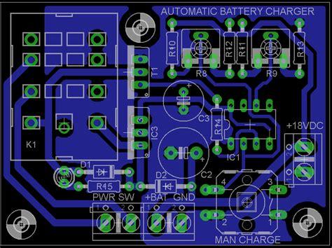 aplikasi layout pcb berinovasi dengan elektronika rangkaian charger aki