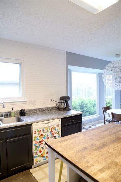 how to install a diy beadboard backsplash kitchen makeover installing a beadboard backsplash love renovations