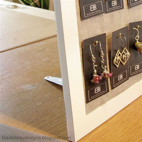 make your own earring cards how to create your own earring card display from a frame