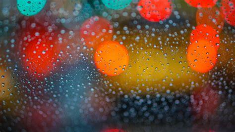 bokeh rain drops  glass  wallpapers hd wallpapers