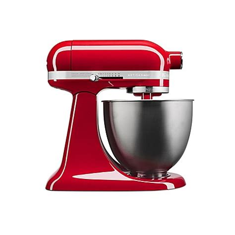 kitchenaid bed bath and beyond buy kitchenaid 174 artisan 174 mini 3 5 qt mixer in empire red