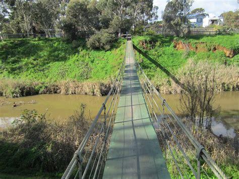 swinging bridge park swing bridge st peters adelaide