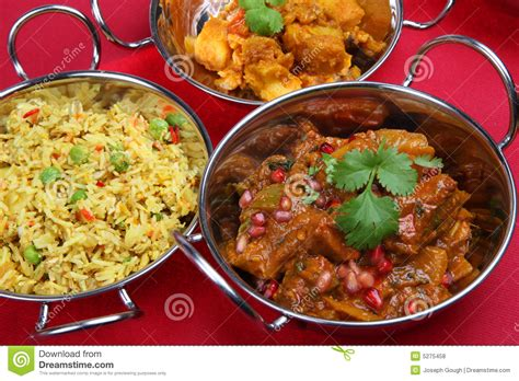 indian curry dinner indian curry meal royalty free stock photos image 5275458