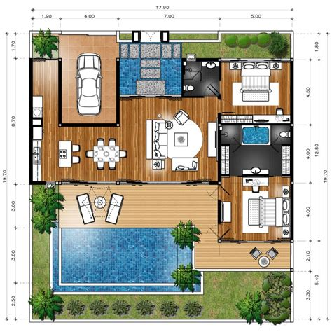 Small Villa Plans by Master Plan Villa Type B Homes