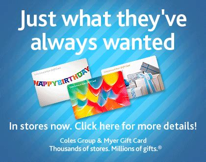 Where Can I Buy Myer Gift Card - coles myer gift card gift idea techgeek