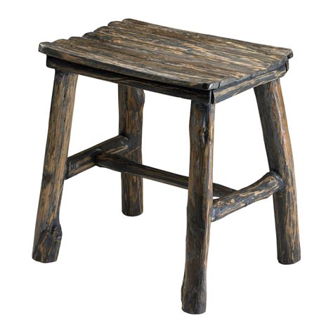 Wooden Stool by Cyan Design Vintage Wooden Stool