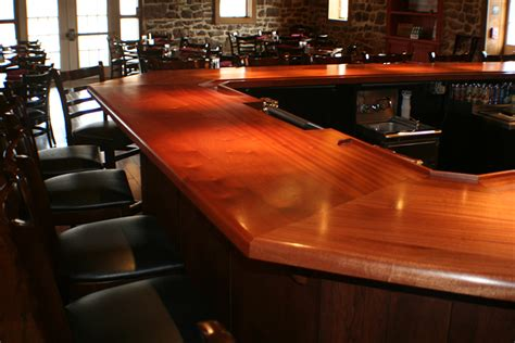 polyurethane bar top finish commercial bar tops of wood for a restaurant cafe or pub by grothouse