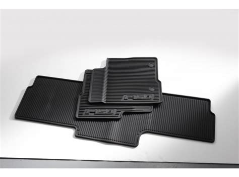 2014 Ford Escape Rubber Floor Mats by Floor Mats All Weather Thermoplastic Rubber Black 3 Pc