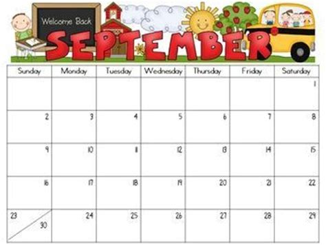 7 Best Images Of Editable September Monthly Calendar 2015 Printable September 2015 Calendars Free Preschool Calendar Templates 2017