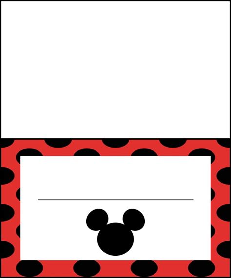 Mickey Mouse Place Card Template by 17 Best Images About Disney Clip On Disney