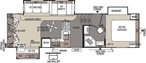 rockwood fifth wheel floor plans 2017 forest river rockwood signature ultra lite 8288wsa