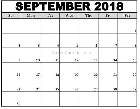 printable calendar 2018 usa printable september 2018 calendar template pdf download