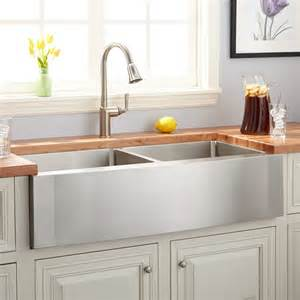 stainless farmhouse kitchen sinks 42 quot optimum bowl stainless steel farmhouse sink