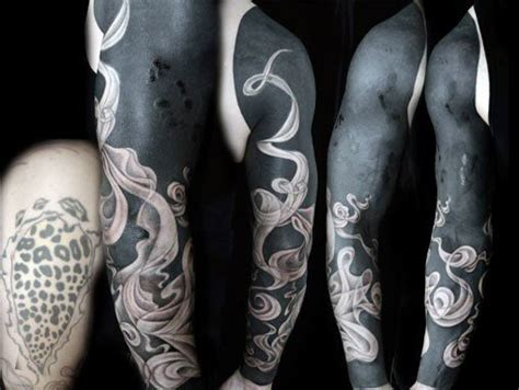 smoke sleeve tattoo designs 50 cover up sleeve design ideas for manly ink