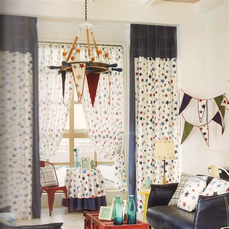 Cotton Window Curtain Star Pattern Nursery Curtains 2016 Nursery Curtain