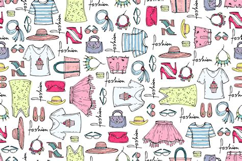 clothes pattern market pattern with summer clothes patterns on creative market