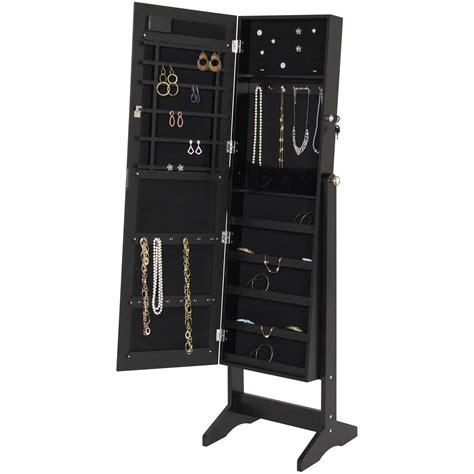 Lighted Jewelry Armoire by Best Choice Products Led Lighted Mirrored Jewelry Cabinet
