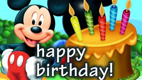 mickey mouse happy birthday images mickey mouse birthday image impremedia net