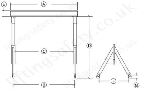 design lifting frame aluminium a frame lifting gantry 500kg to 3000kg swl