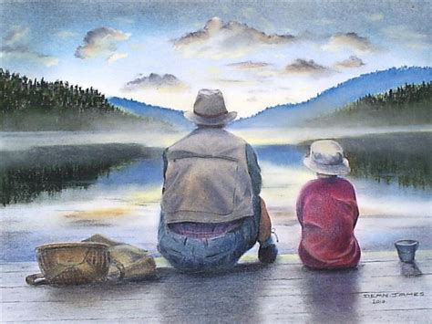 father and son fishing by dixiedean on deviantart
