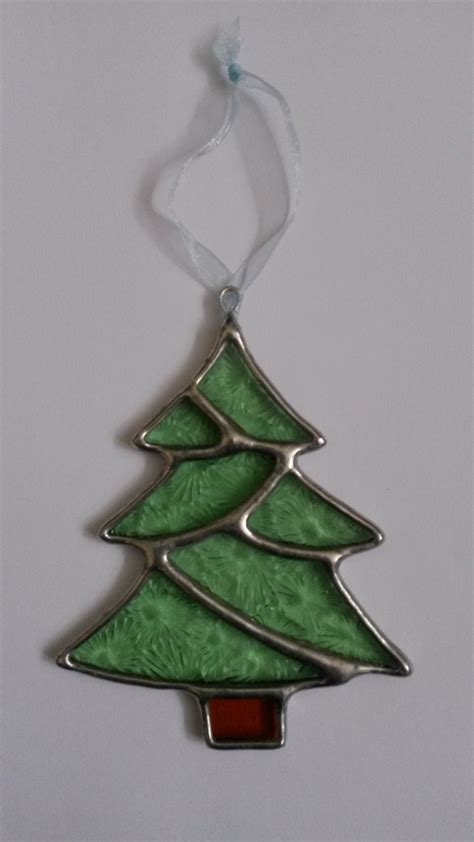christmas tree stained glass christmas decoration