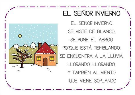 poemas infantil poesias infantiles el invierno buscar con google