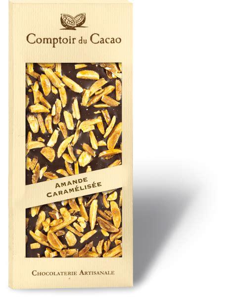 comptoir du cacao comptoir du cacao artisan almond gourmet chocolate bar