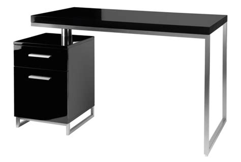 Black Gloss Desk With Drawers by Reversible Desk And Drawers Black Office Desks Tables