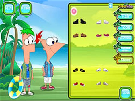 phineas and ferb backyard beach game play phineas and ferb dress up online for free pog com
