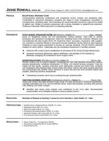 Exles Of Nursing Resumes by Exle Resume Free Sle