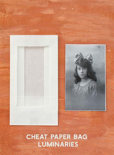 How To Make Paper Bag Luminaries - paper bag portrait luminaries the house that lars built