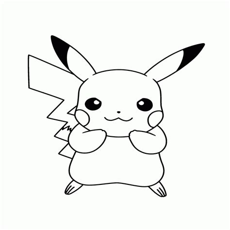 imagenes en negro para imprimir dibujos de pikachu para colorear e imprimir gratis