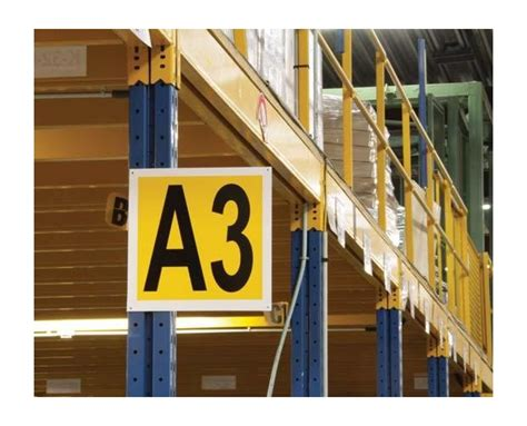 Shelf Identification by Identification Plate For Aisle Provost