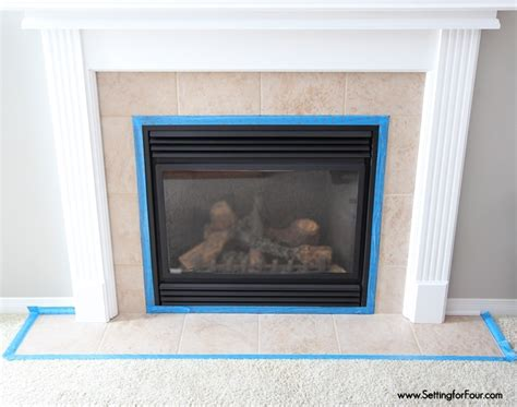 covering brick fireplace with ceramic tile how to paint tile easy fireplace paint makeover