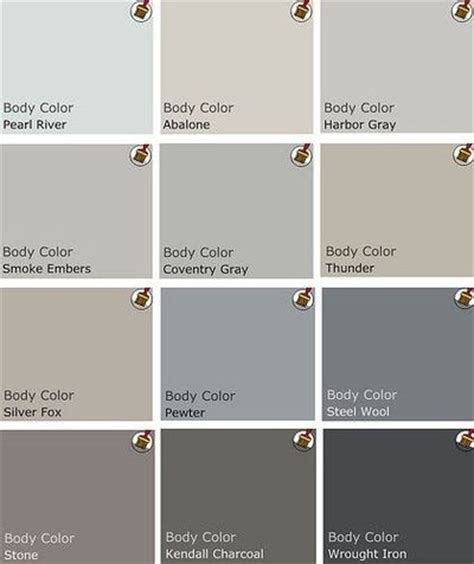 grey paint swatches palette of grey benjamin moore paints walls stash