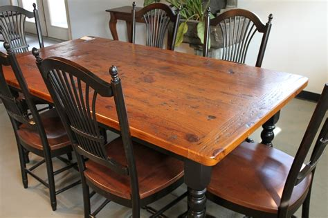 Kitchen Table Finish by Rustic Farm Table With Chestnut Brown Finish