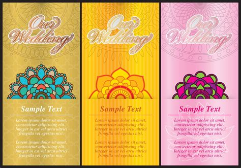 indian wedding invitation design free indian wedding cards free vector stock graphics images