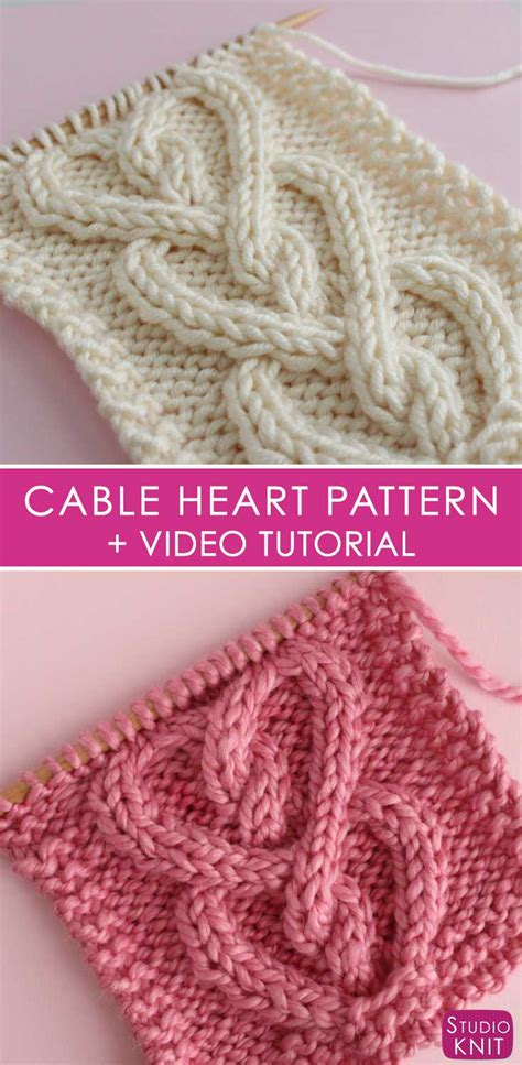 cable pattern knit youtube how to knit a cable heart stitch pattern with video