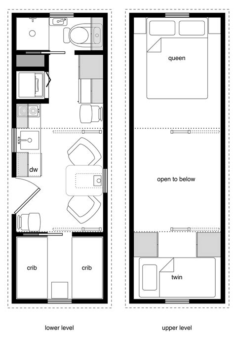 Cabin Floorplan by Family Tiny House Design Tiny House Design