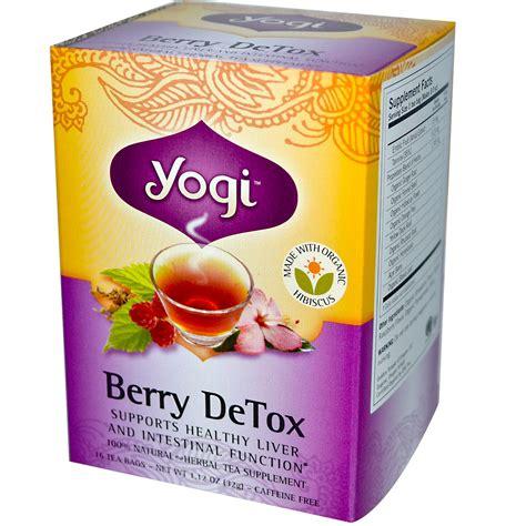 yogi tea berry detox caffeine free 16 tea bags 1 12 oz