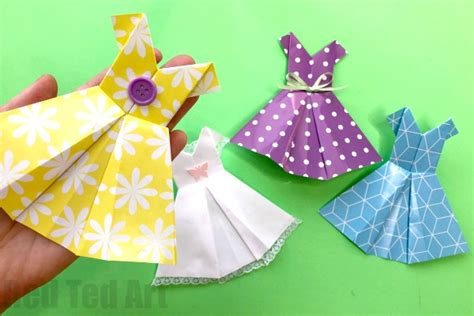 How To Make An Origami Dress - how to make an origami dress easy ted s