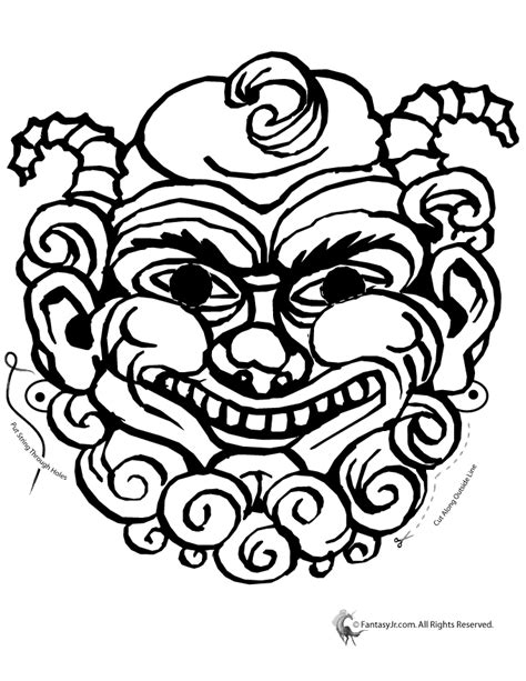 ancient greek mask template mythical creature mask coloring page woo jr