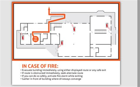 building layout drawing of escape routes pics for gt fire escape route sign