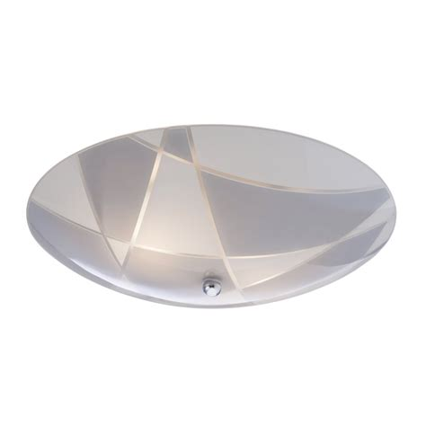 Flush Fitting Ceiling Lights Uk 8135ch Pattern 2 Light Flush Fitting In Chrome With Patterned Glass
