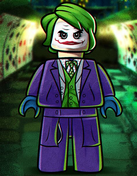Lego Joker Tutorial | how to draw lego joker step by step movies pop culture