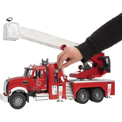 bruder fire truck bruder mack granite fire engine with water pump fire