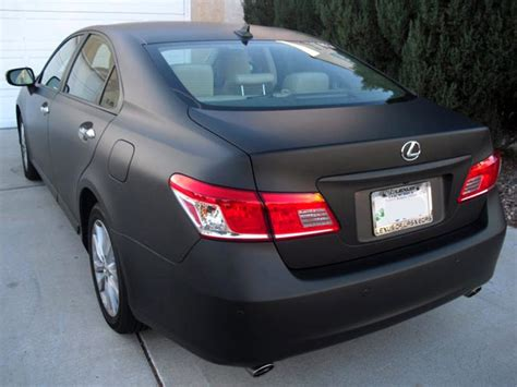 matte black lexus rx 350 lexus es 350 gets matte black treatment autoevolution