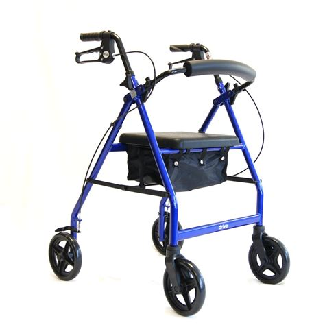drive 4 wheel walker with seat lightweight folding four wheel walker swindon rollator