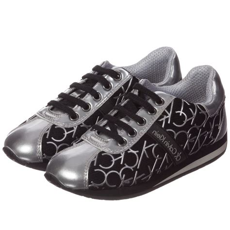 Calvin Klein Silver calvin klein black silver unisex ck trainers